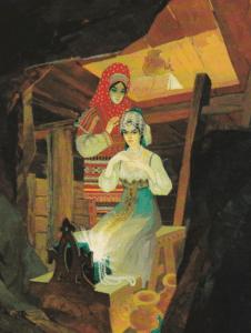 странница с Танюшкой